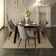 Homelegance Dining Room Furniture Homelegance Fillmore Side Chair W Grey Fabric Cover In Espresso