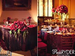 Burgundy Wedding Centerpieces by Burgundy Wedding Reception Decorations
