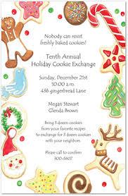 holiday cookies border invitations christmas party invitations 6201