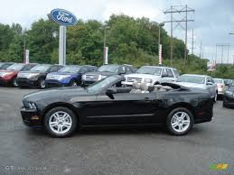 Black Mustang Convertible Black 2013 Ford Mustang V6 Convertible Exterior Photo 70330725
