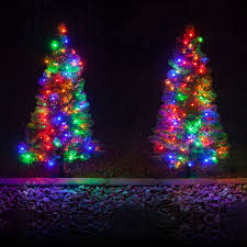 outdoor lighted christmas trees christmas lights decoration