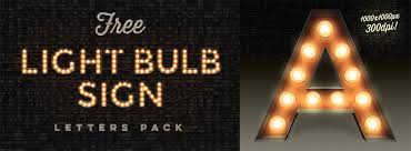 free font graphic vintage light bulb sign the graphic mac