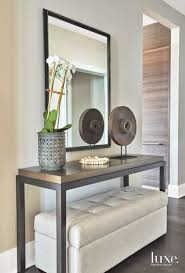 Modern Entryway Table Easy Decorating With Palm Fronds Branches And Greenery Console
