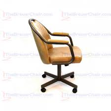 Swivel Tilt Dining Chairs by Caster Chair Company C190 Empire Casual Rolling Caster Dining