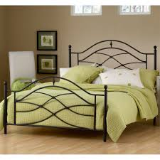 Black Wrought Iron Bed Frame Cole Iron Bed In Black Twinkle Humble Abode