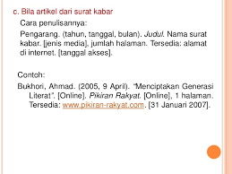 panduan penulisan daftar pustaka dari jurnal penulisan daftar pustaka