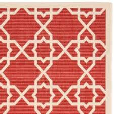 4 X 5 Kitchen Rug Poolside Red Beige Indoor Outdoor Rug 4 U0027 X 5 U00277 Cabana Design