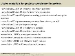 project coordinator cover letter cover letter project coordinator