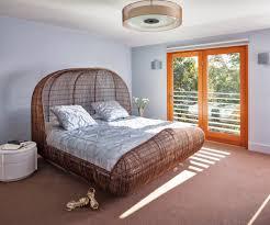 Unique Bedroom Furniture Bedroom Natural Rattan Wicker Bedroom Furniture Bed With Canopy