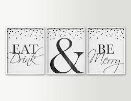 eat drink u0026 be merry dining room wall decor modern dining