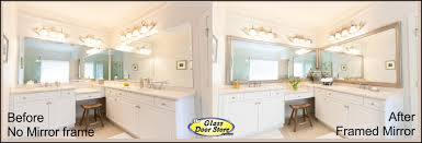 design art frames for bathroom mirrors how to frame a bathroom