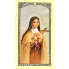 prayer card st therese of the child jesus prayer card the catholic company