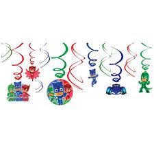 masks swirl decorations 12ct