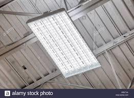 High Efficiency Fluorescent Light Fixtures A High Efficiency Fluorescent Light Fixture In A High School Stock