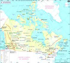 Canada On A Map Canada Map Entrancing Of And England Evenakliyat Biz Inside