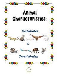 pdf vertebrates and invertebrates animal characteristics cards