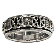 worry ring sterling silver celtic knot spinner worry ring size 4