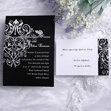 vintage black and white art deco wedding invitations uki114