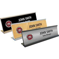 Desk Name Plates With Business Card Holder Cadillac Desk Name Plates Gm Name Plates
