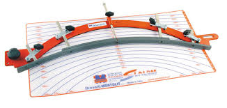 attrezzature per piastrellisti dima variabile per tagli curvi