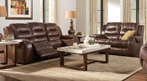 Brown Leather Chair And A Half Design Ideas Manual U0026 Power Reclining Living Room Sets With Sofas