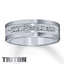 Guy Wedding Rings by Kay Triton Tungsten Carbide U0026 Sterling Silver Ring For Him