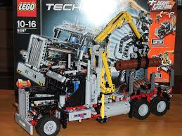 lego technic truck lego technic 9397 wood transporter truck holztransporter flickr
