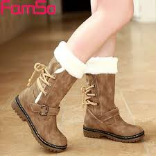 womens winter boots waterproof women s winter boots snow fur warm insulated mid calf