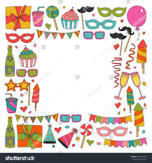 happy birthday card template kids drawing stock vector 714067816