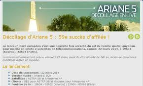 Décollage Ariane  Place des Amandiers  Le blog de noixdecoco