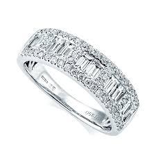 eternity ring berry s platinum baguette brilliant cut pave set diamond ring