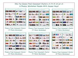 final consonant clusters ct ft lt nt pt st 6 worksheet bundle by