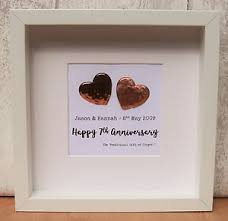 7th wedding anniversary gifts for 7th wedding anniversary gift copper large contemporary frame