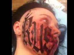 extreme tattoo face youtube