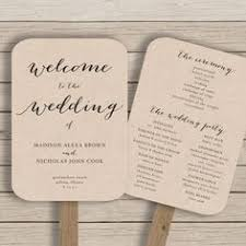 fan wedding programs ceremony spaces details fan