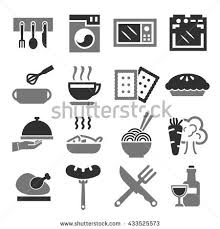 kitchen cuisine kitchen cuisine cook icon set เวกเตอร สต อก 433525573