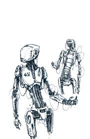 robot sketch by afgahntramp on deviantart
