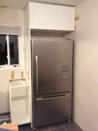 gap between fridge and cabinets little spaces the little green kitchen