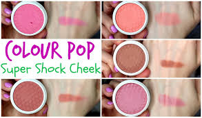 colour pop super shock cheek blush swatches demo review youtube