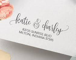 return address on wedding invitations return address st etsy