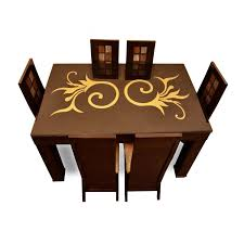 6 seater high quality dining table set glass dining table