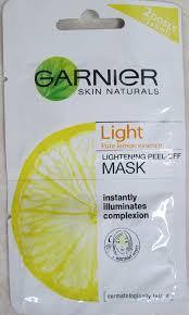 Masker Garnier Lemon garnier peel mask cover fiarevenian