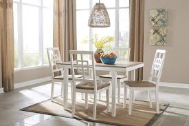 ashley furniture brovada two tone 5 piece dining room table and