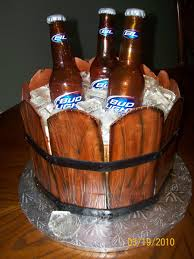 beer cake bucket of cold beer cake cakecentral com