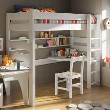 lit surélevé avec bureau lit mezzanine avec bureau et étagères klassisch kinderzimmer