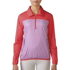 women u0027s adidas packable 1 4 zip wind tech discount women u0027s golf