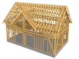 frame house architecture ingénierie production construction de maisons en bois