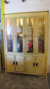 curio cabinet bamboo curiobinet corner wicker glassbinetbamboo