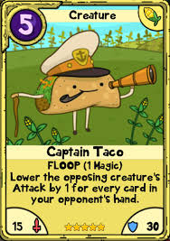 wars cards image captain taco jpg card wars wiki fandom powered by wikia