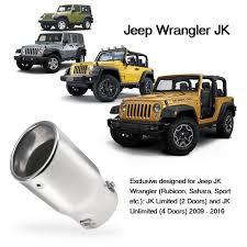 amazon com jeep wrangler jk amazon com vulcan x exhaust tip 304 stainless steel for 2007 2017